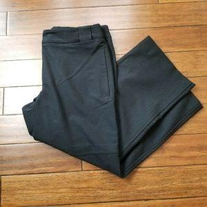 MaxMara Weekend Black Wool Blend Wide Leg Pants